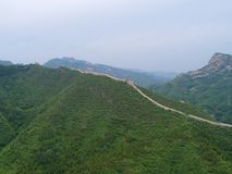 Aerial view of Great Wall of China. stock image
