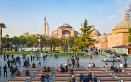 Famous landmark Hagia Sophia in Istanbul, Turkey Stock Images