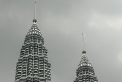 Twin towers of the Petronas Tower Stock Photo