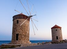 Famous landmark of Rhodes Island Greece Royalty Free Stock Photo