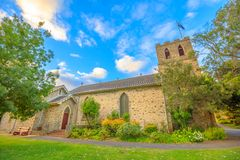 Albany Anglican Church. Famous landmark of St John the Evangelist Anglican Church, the oldest church to be consecrated in Western Australia. This side view is Stock Photography