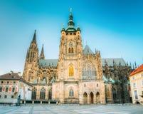 Famous landmark St. Vitus Cathedral Prague, Czech Royalty Free Stock Photos