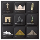 Famous Landmark Of The World Icon Set Royalty Free Stock Images