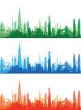 Famous landmarks cityscape Stock Images