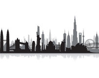 Famous landmarks cityscape Royalty Free Stock Image