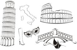 Famous landmarks of Italy Royalty Free Stock Image