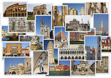 Famous landmarks of Italy Royalty Free Stock Photography