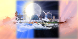 Famous Landmarks of Jeddah at all times Stock Photography