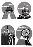 Famous landmarks - vector Stock Image
