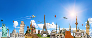 Famous landmarks of the world Stock Images