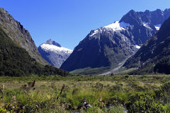 Famous landscape ,fiordland national park Stock Photos
