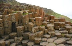 Giant`s Causeway, Northern Ireland. The famous landscape of Giant`s Causeway in Northern Ireland stock photo