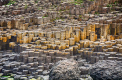 Giant`s Causeway, Northern Ireland. The famous landscape of Giant`s Causeway in Northern Ireland stock image