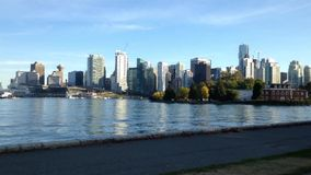 Famous landscape in the Stanley park stock footage