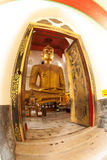 The famous large sitting Buddha in Thai Temple. Stock Photography