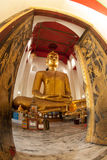 The famous large sitting Buddha in Thai Temple. Stock Photo