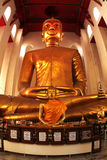 The famous large sitting Buddha in Thai Temple. Royalty Free Stock Photos