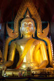 The famous large sitting Buddha in Thai Temple. Royalty Free Stock Photography