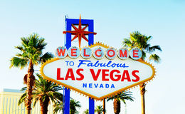 Famous Las Vegas sign on bright  day Stock Photo