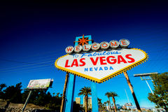 Famous Las Vegas sign Royalty Free Stock Photo