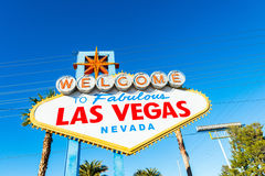 Famous Las Vegas sign on bright Stock Photo