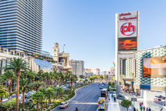 Famous Las Vegas Strip casinos in Las Vegas, USA Royalty Free Stock Images