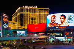Famous Las Vegas Strip casinos in Las Vegas, USA Royalty Free Stock Photography