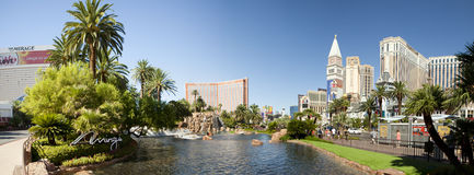 The famous Las Vegas Strip (panoramic) Royalty Free Stock Photo