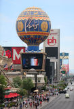 Famous Las Vegas Strip. The famous Las Vegas Strip is shown during the day Royalty Free Stock Image