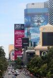 Famous Las Vegas Strip. The famous Las Vegas Strip is shown during the day Stock Photos