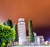Famous leaning tower Royalty Free Stock Photo
