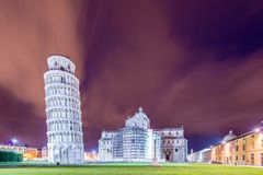 Famous leaning tower of Pisa Royalty Free Stock Image