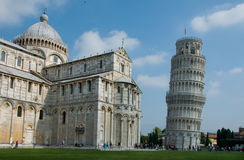 Famous leaning tower of Pisa, Italy. Square photo crop of the famous leaning tower of Pisa Royalty Free Stock Photography