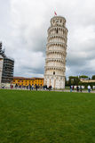 Famous leaning tower of Pisa during Stock Images
