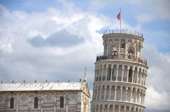 The famous Leaning Tower on Square of Miracles in Pisa, Tuscany, Italy Stock Images