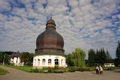 The library of monastery NeamÈ› stock images