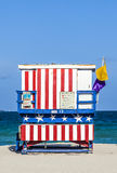 Famous lifeguard towers in South beach Royalty Free Stock Photography
