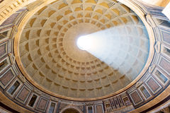 The famous light ray in Rome Pantheon Royalty Free Stock Photography