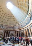 The famous light ray in Rome Pantheon Royalty Free Stock Images