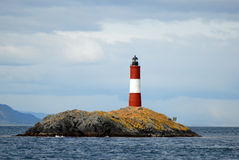 Famous lighthouse on the Beagle Channel Royalty Free Stock Photography