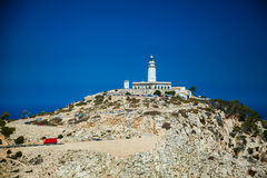 Famous lighthouse Cap Formentor. In Mallorca, Spain Stock Images