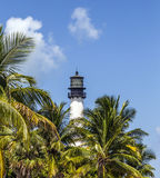 Famous lighthouse at Cape Florida at Key Biscayne Stock Image