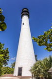 Famous lighthouse at Cape Florida at Key Biscayne Royalty Free Stock Image
