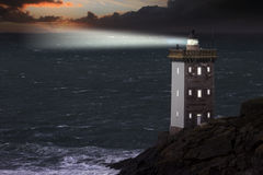 Famous lighthouse, France Stock Photography