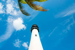 Famous lighthouse at Key Biscayne, Miami Stock Photo