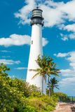 Famous lighthouse at Key Biscayne, Miami Royalty Free Stock Photography