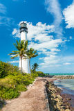 Famous lighthouse at Key Biscayne, Miami Stock Image