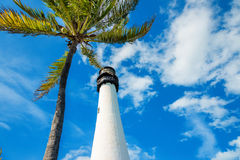 Famous lighthouse at Key Biscayne, Miami Royalty Free Stock Photos