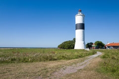 Famous lighthouse on southern Oland, Sweden Stock Images