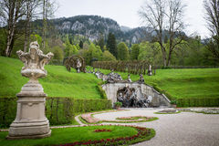 Famous Linderhof Garden, Bavaria, Germany Stock Photography